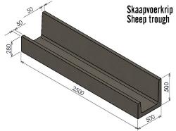 Skaap Voer Krip (350kg)