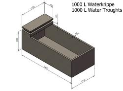 1000L Water Krippe