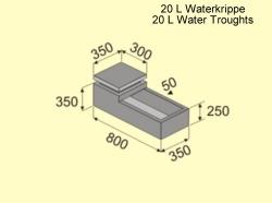 20L Water Krippe