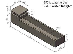 250L Water Krippe