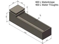 400L Water Krippe
