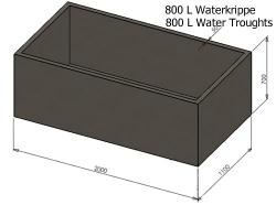 800L Water Krippe