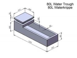 80L Water Krippe